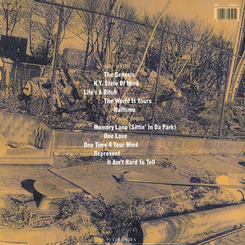 Illmatic back cover