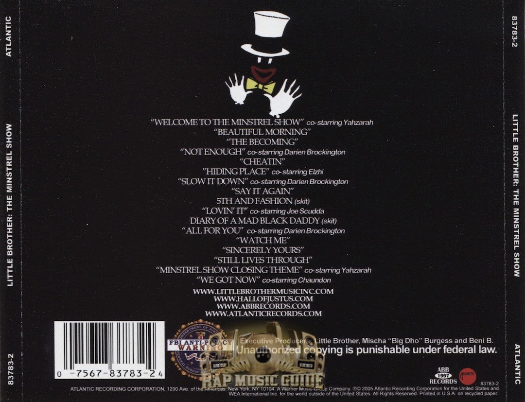 The Minstrel Show Back Cover