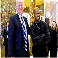 o	Kanye West met with President Trump shortly after his hospitalization earlier that year. Following their meeting, West later tweeted that he met with the President to discuss potential solutions to stopping the violence in Chicago, the artist's native c